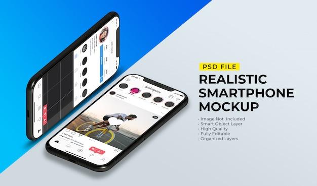 Maquette De Publication Instagram Sur Smartphone PSD Premium