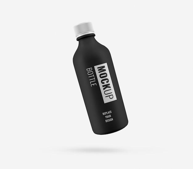 Maquette Publicitaire En Plastique Noir PSD Premium