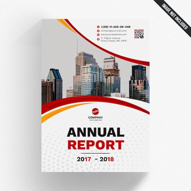 Maquette De Rapport Annuel Abstrait PSD Premium