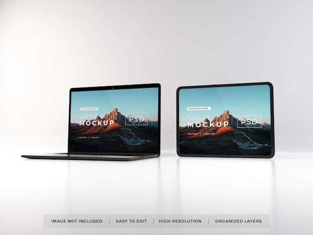 Maquette Réaliste De Portable Et De Tablette PSD Premium