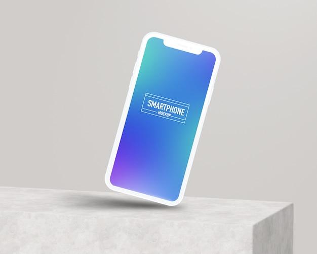 Maquette réaliste de smartphone. maquette smartphone propre PSD Premium