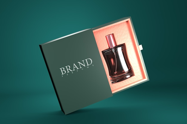 Maquette De Rendu 3d D'emballage De Parfum PSD Premium