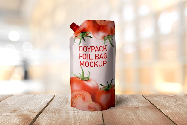 Maquette de sac en aluminium doypack PSD Premium