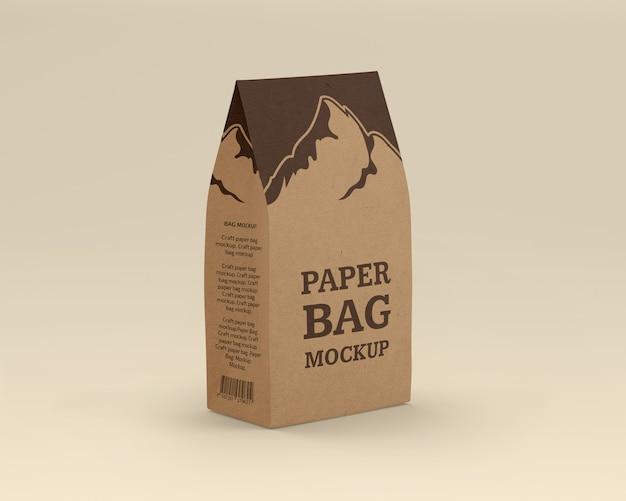 Maquette De Sac En Papier Kraft PSD Premium