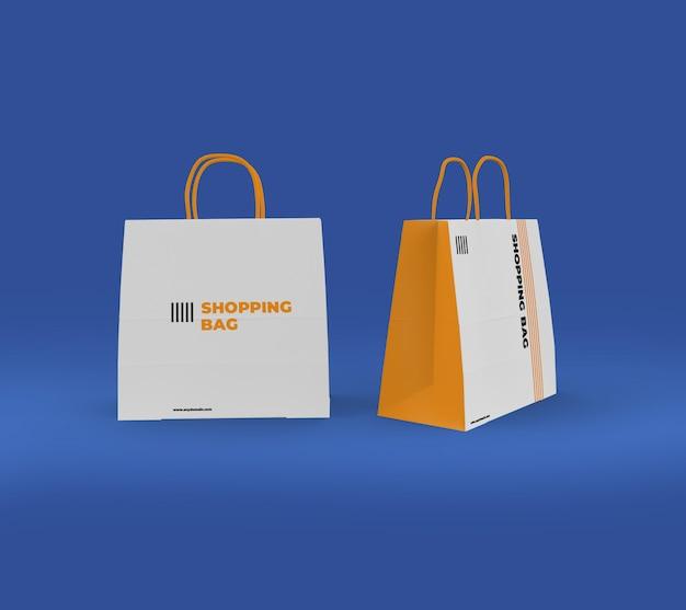 Maquette de sac en papier PSD Premium