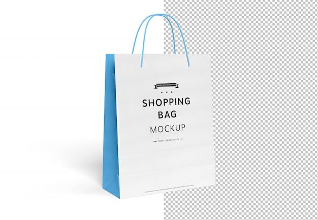Maquette de sac à provisions vide découpée sur blanc PSD Premium