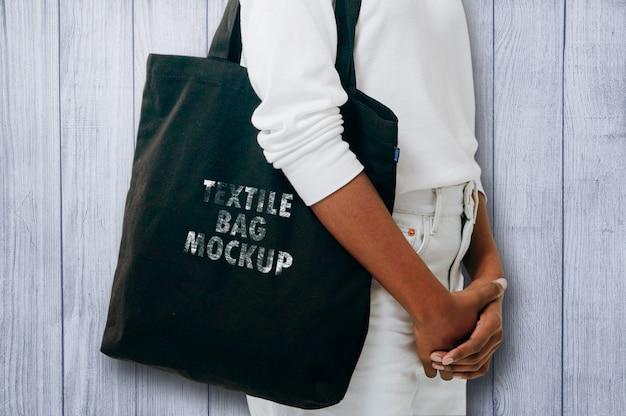 Maquette de sac en textile PSD Premium