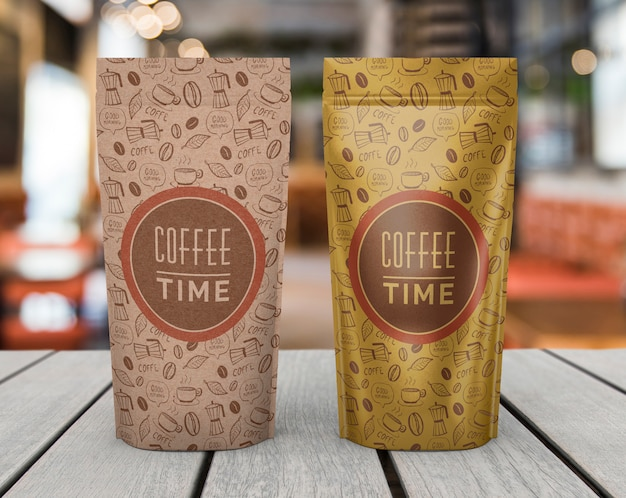 Maquette de sacs à café Psd gratuit
