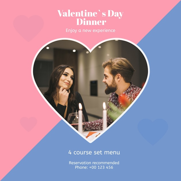 Maquette Saint Valentin Avec Image Psd gratuit