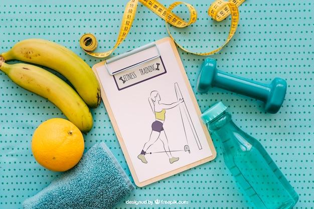 Maquette De Santé Avec Le Presse-papiers Psd gratuit