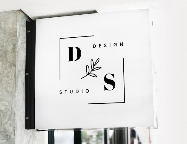 Maquette de signe de magasin moderne PSD Premium