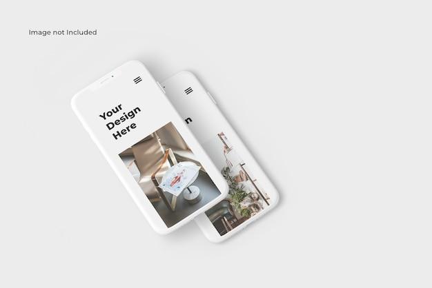 Maquette De Smartphone En Argile Isométrique PSD Premium