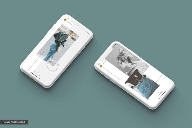 Maquette De Smartphone Avec Histoire Instagram De Base PSD Premium