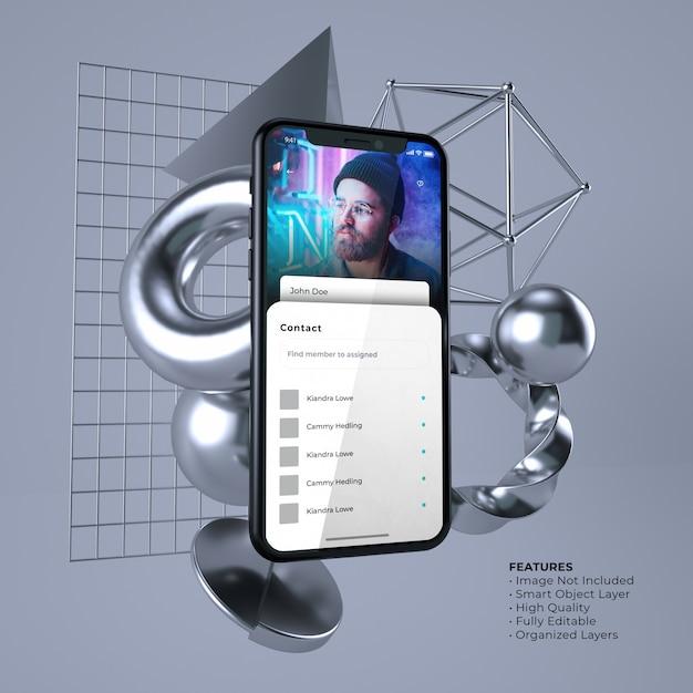 Maquette De Smartphone D'interface Utilisateur Légère PSD Premium