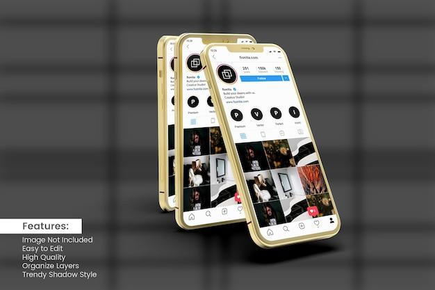 Maquette De Smartphone Pour Afficher Le Modèle De Publication Et D'histoire Instagram PSD Premium