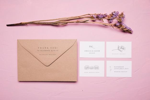 Maquette De Style Enveloppe De Mariage Psd gratuit