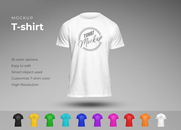 Maquette De T-shirt Décontractée En Différentes Couleurs PSD Premium