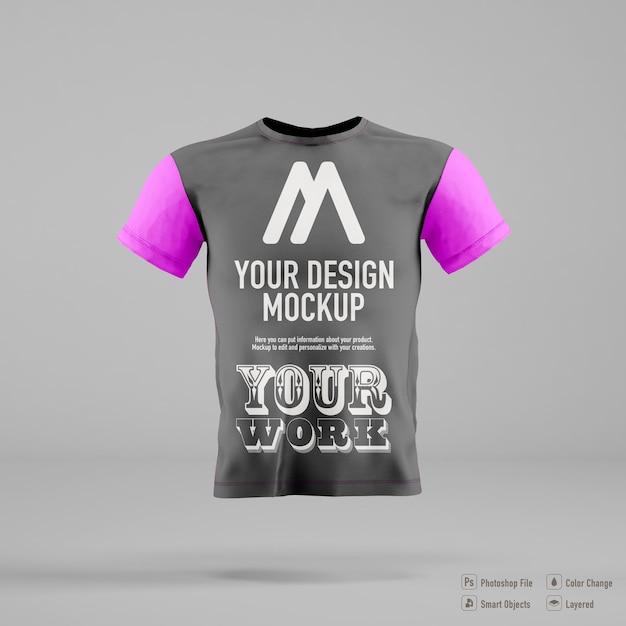 Maquette De T-shirt Homme Isolé Sur Fond De Couleur Douce PSD Premium