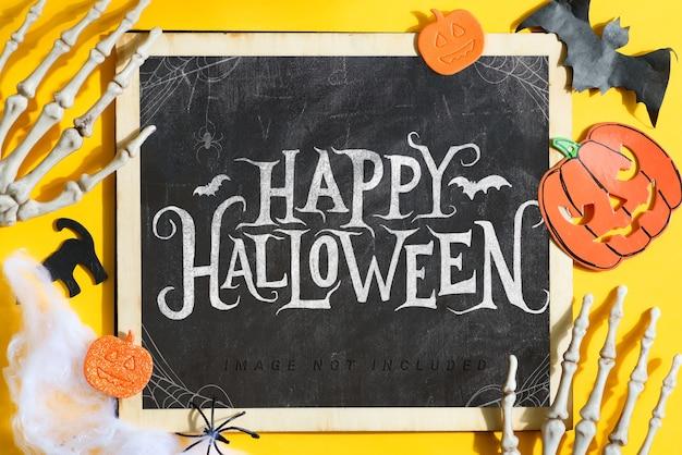 Maquette De Tableau Happy Halloween PSD Premium