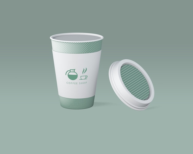 Maquette de tasse à café en papier Psd gratuit