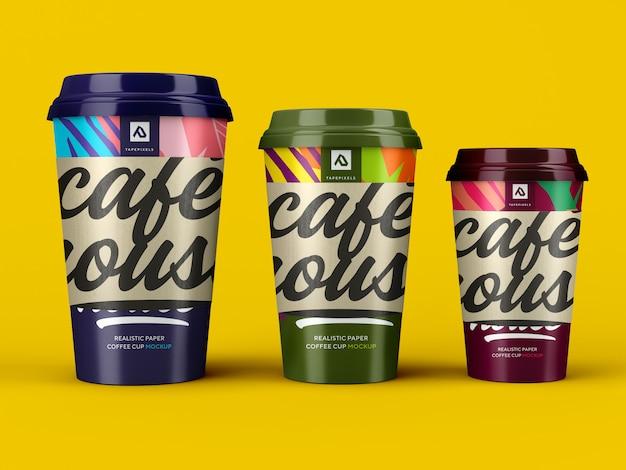 Maquette De Tasse De Café. Récipient à Café à Emporter PSD Premium