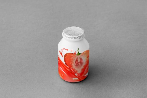 Maquette de tasse de yaourt Psd gratuit