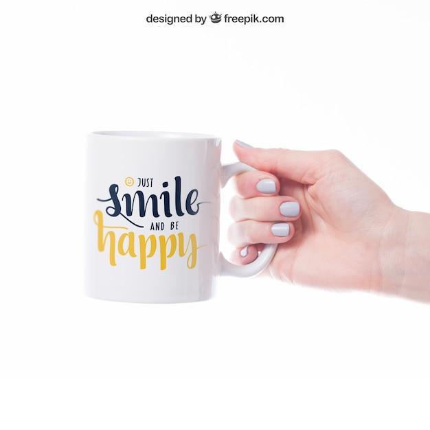 Maquette de tasse Psd gratuit