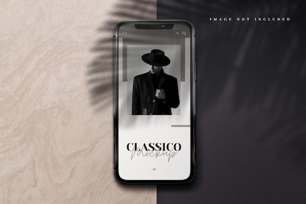 Maquette De Téléphone Moderne 3d Avec Superposition D'ombres PSD Premium