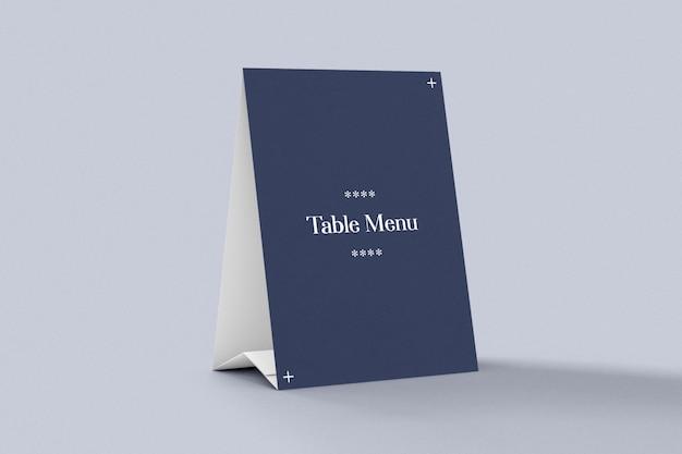 Maquette De Tente De Menu Et De Table PSD Premium