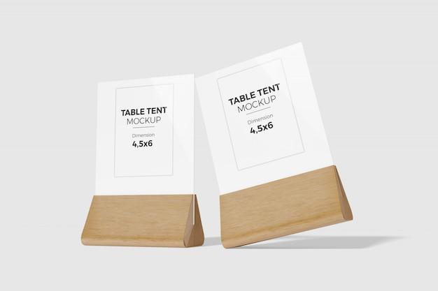 Maquette De Tente De Table 4 PSD Premium