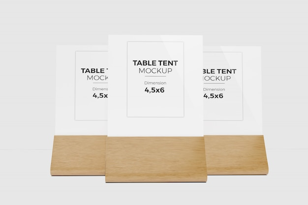 Maquette De Tente De Table 6 PSD Premium