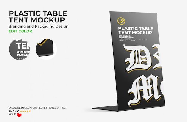 Maquette De Tente De Table En Plastique PSD Premium