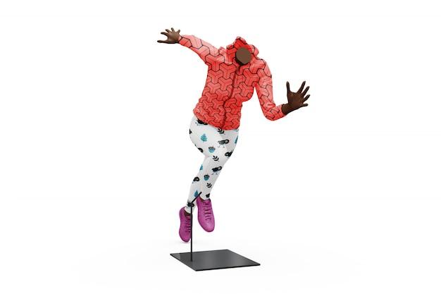 Maquette de tenue de sport féminin isolé Psd gratuit