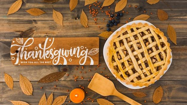 Maquette de thanksgiving Psd gratuit