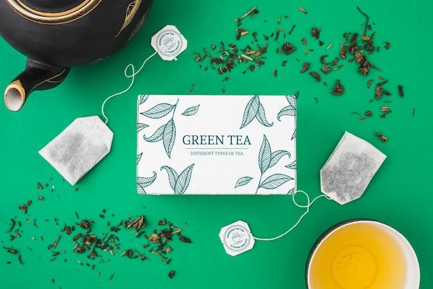 Maquette de thé créative Psd gratuit