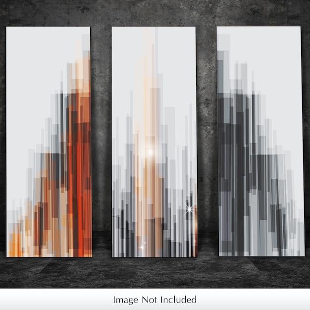 Maquette de trois toiles PSD Premium