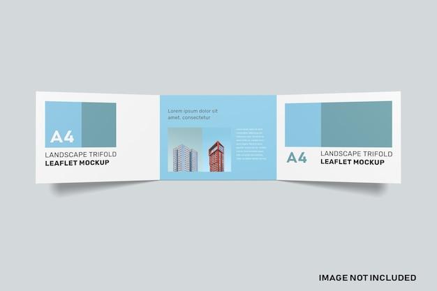 Maquette à Trois Volets De Paysage Isolée PSD Premium