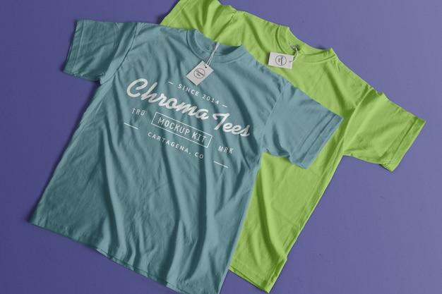 Maquette de tshirt chromatees Psd gratuit