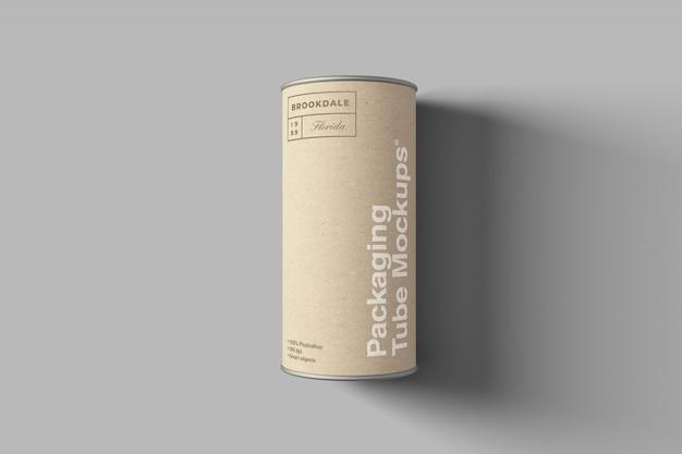 Maquette De Tube D'emballage En Carton PSD Premium