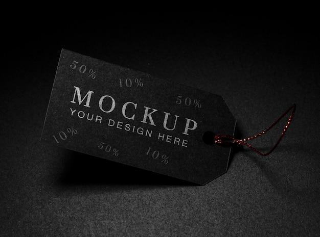 Maquette De Vente Du Vendredi Noir à étiquette De Prix Minimaliste Psd gratuit