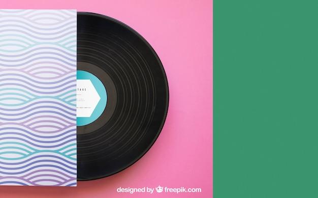 Maquette En Vinyle Avec Espace Sur La Droite Psd gratuit