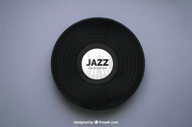 Maquette en vinyle jazz Psd gratuit