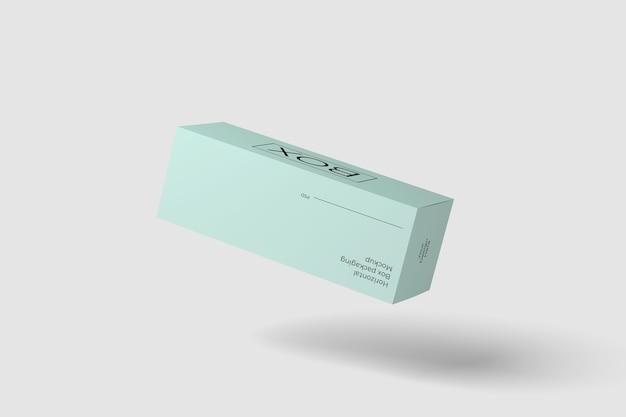 Maquette De Vue De Mouche D'emballage De Boîte Horizontale PSD Premium
