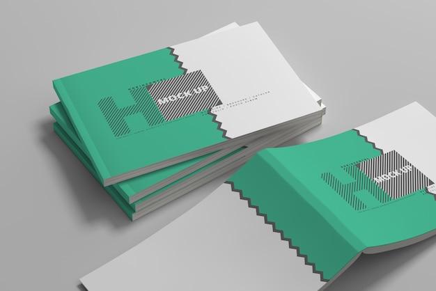Maquettes De Couverture De Magazine Horizontales PSD Premium