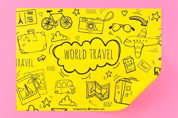 Maquettes De Voyages Dans Le Monde Psd gratuit