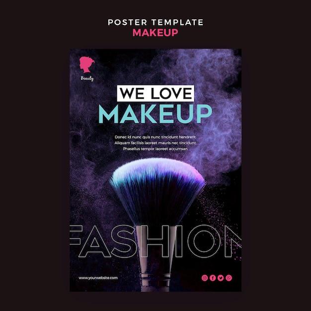 Maquillage De Conception De Modèle D'affiche Psd gratuit