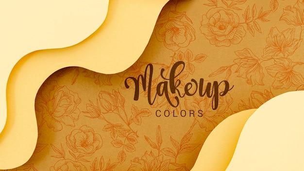 Maquillage fond de couleurs avec des fleurs Psd gratuit