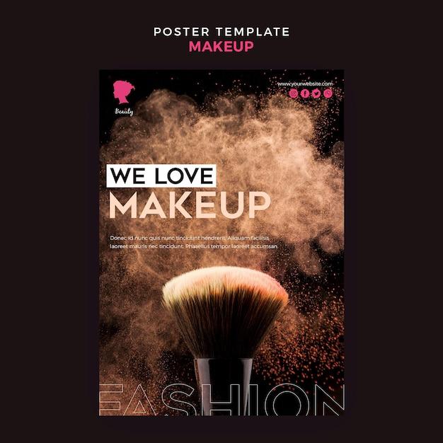 Maquillage Modèle D'affiche Psd gratuit