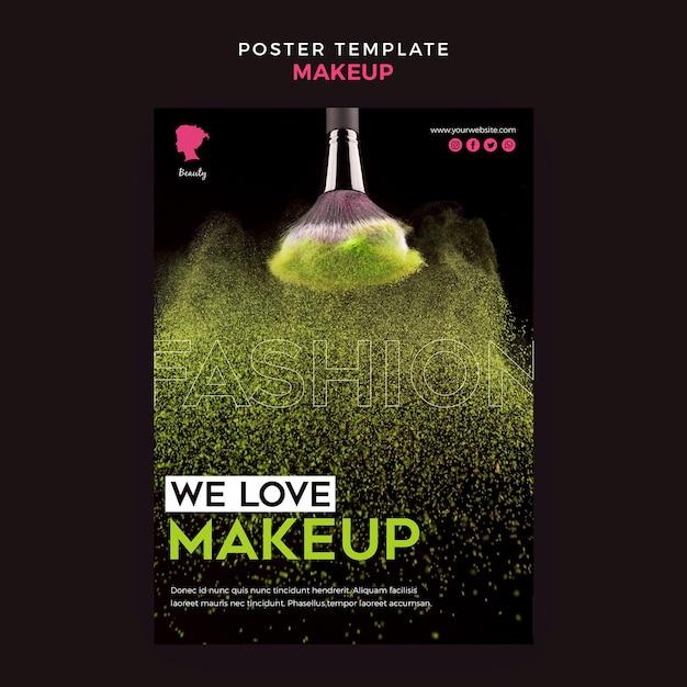 Maquillage Thème De L'affiche Psd gratuit