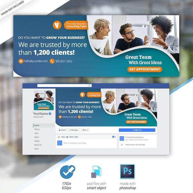 Marketing business facebook timeline cover bannière PSD Premium